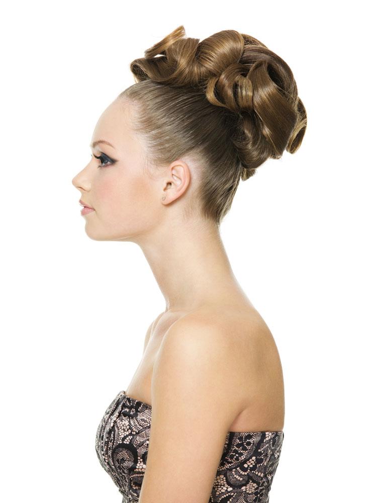 侧面外国美女发型高清图片