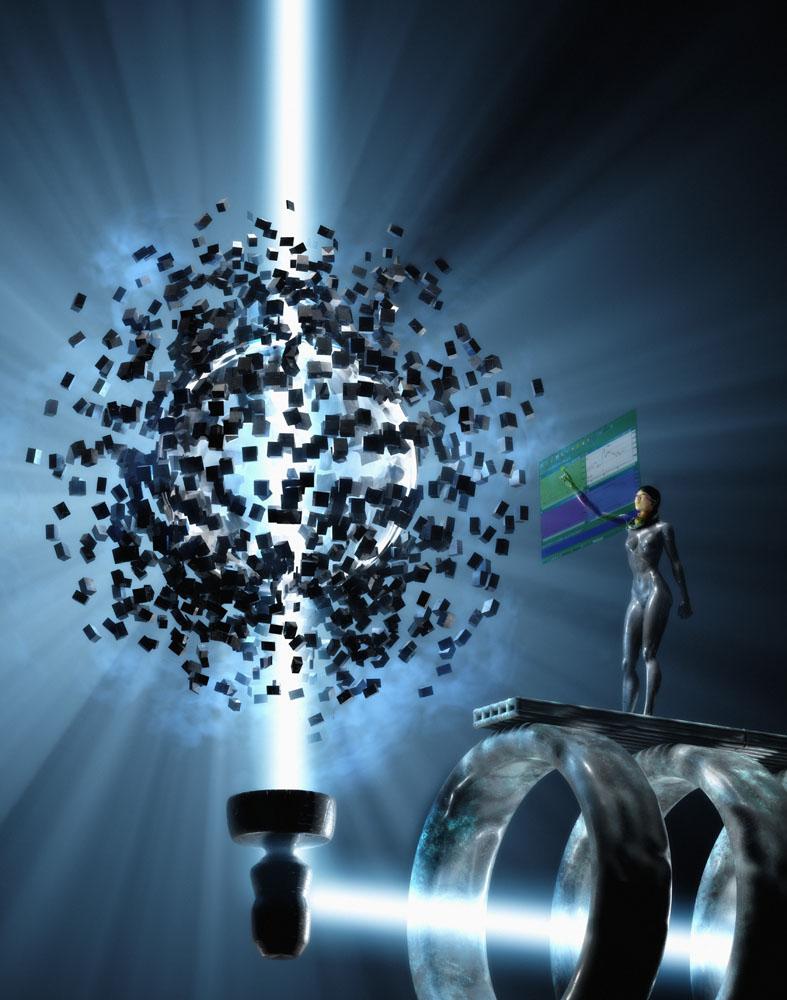 高科技产品与女机器人高清图片