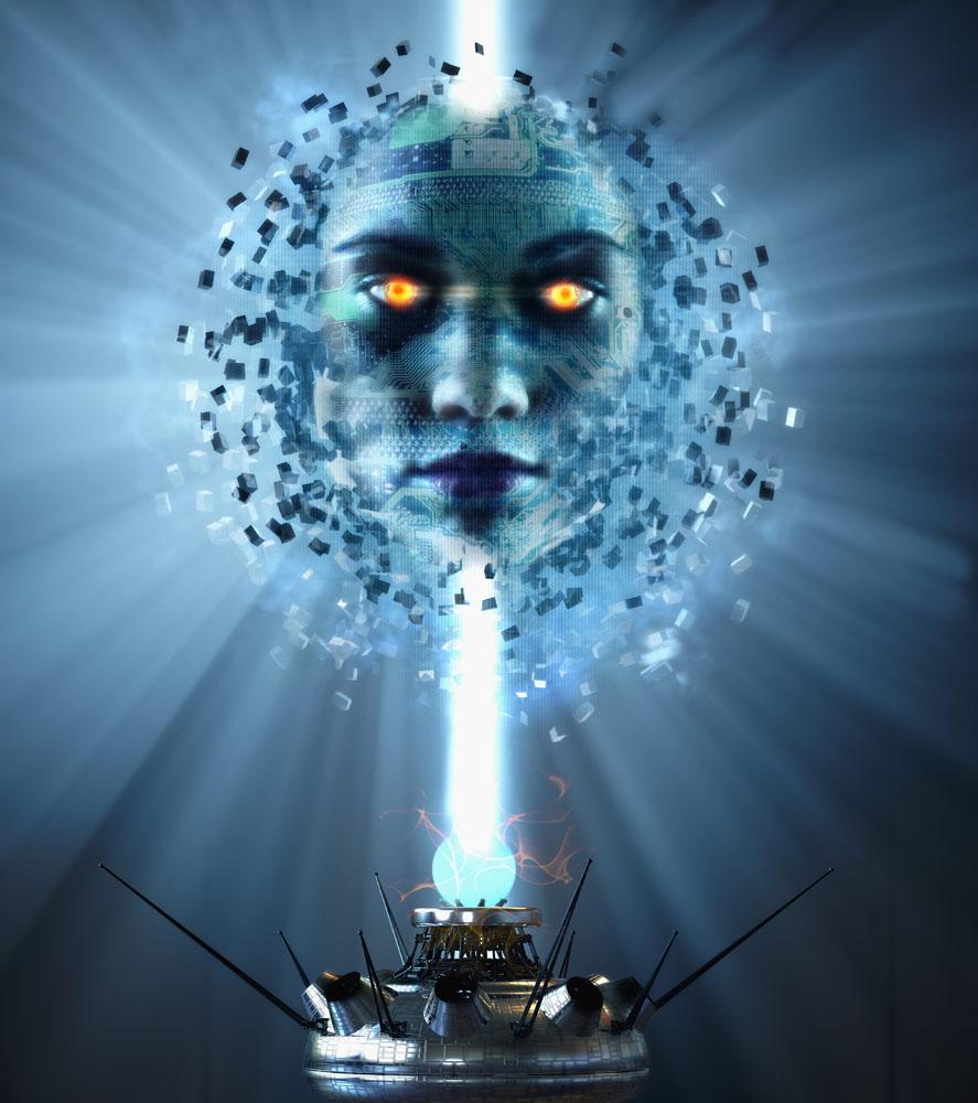 未来高科技产品与人脸部高清图片
