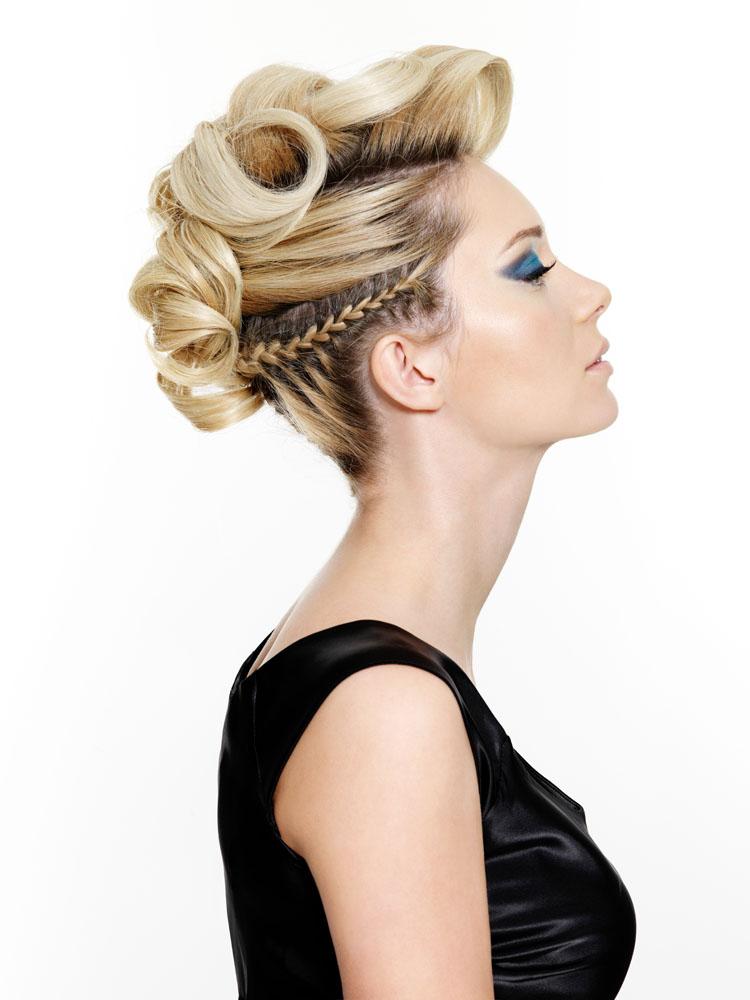 外国美女发型设计侧脸高清图片
