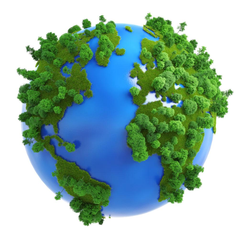 环保宣传地球模型高清图片