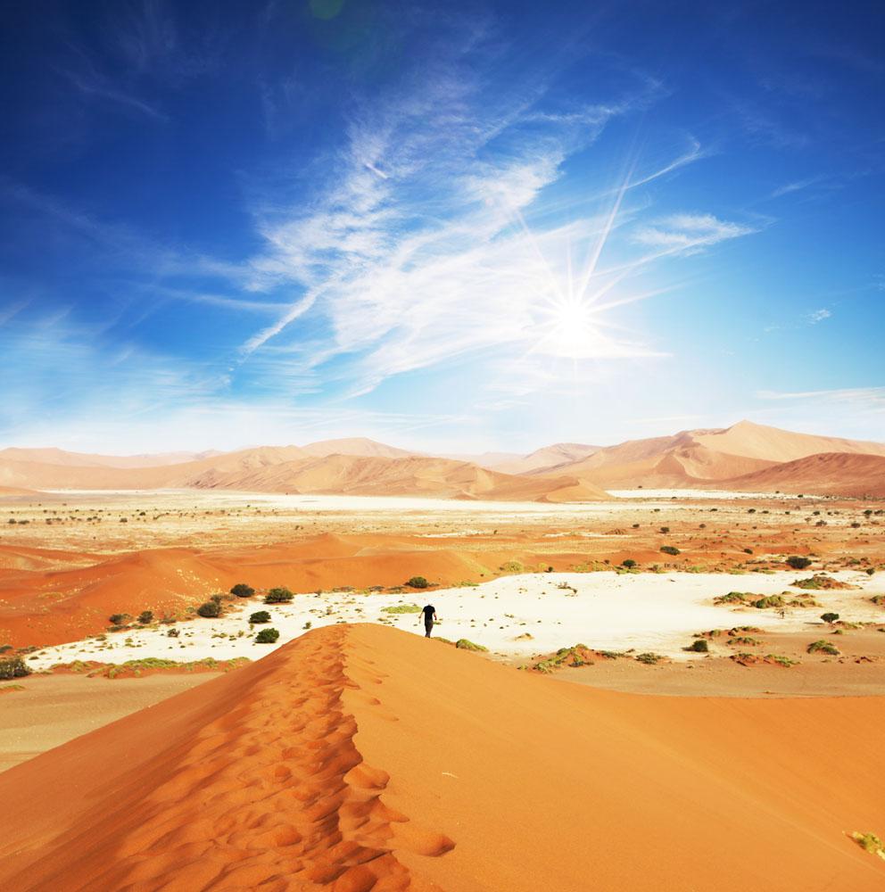 美丽沙漠风景高清图片