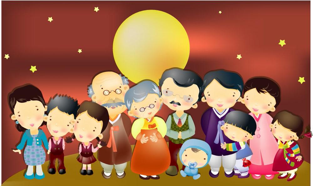 韩国时尚插画图片