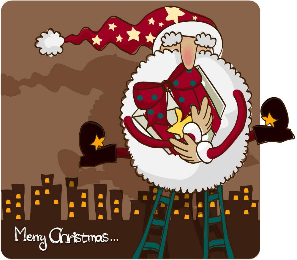 圣诞老人卡通插画图片