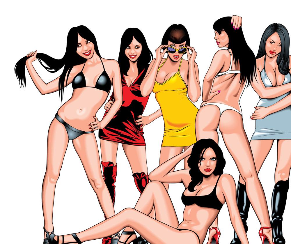 矢量插画女性图片