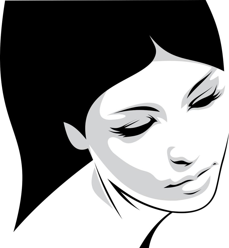 插画女性图片