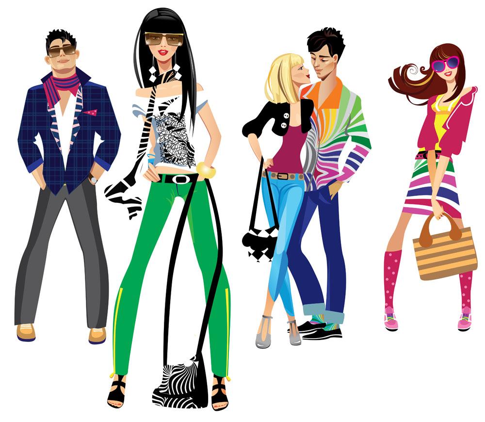 时尚插画人物图片