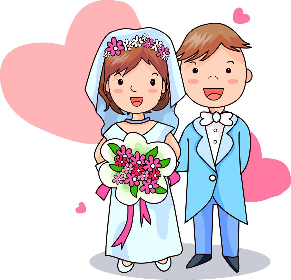 新婚人设计素材
