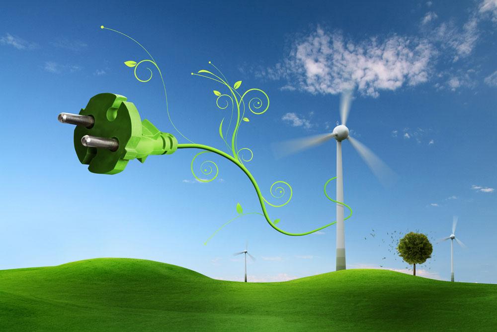绿色环保创意背景
