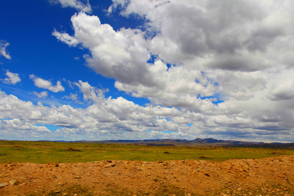 沙漠草原风光背景