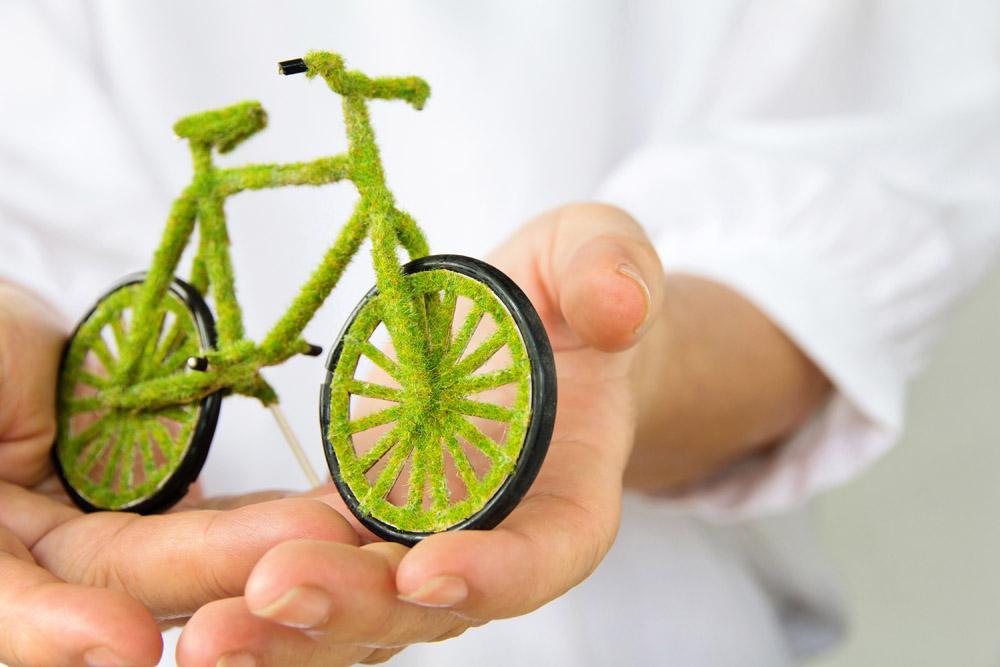 绿色环保自行车