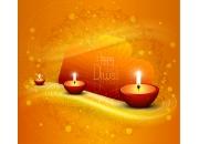 新年蜡烛矢量素材